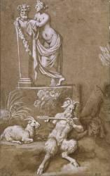 Pan et une nymphe (Anonyme) - Muzeo.com