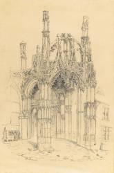 Portail d'une église gothique (Renout Philippe) - Muzeo.com