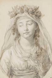 Portrait de mademoiselle Laure de Bonneuil (Elisabeth Vigée Le Brun) - Muzeo.com