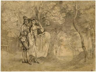 Portrait présumé de l'artiste et de sa femme dans un paysage (Thomas Gainsborough) - Muzeo.com