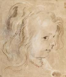 Reproductions Dart Dessin Fille Portraitportrait De