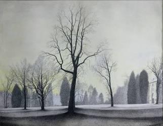 Le Parc , les arbres 1944 (Léon Spilliaert) - Muzeo.com