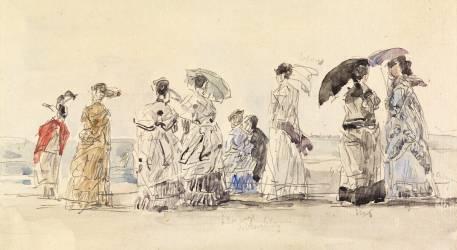 A Trouville (Louis-Eugène Boudin) - Muzeo.com