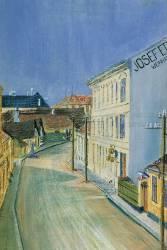 Albrechtstrasse à Klosterneuburg (Schiele Egon) - Muzeo.com