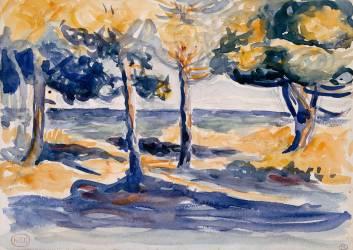 Arbres au bord de la mer (Henri-Edmond Cross) - Muzeo.com