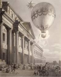 Ascension en ballon de madame Blanchard (Louis-Pierre Baltard) - Muzeo.com