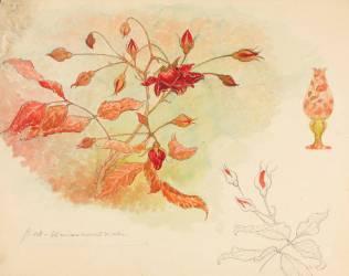 Branche de rosier et lampe (Emile Gallé) - Muzeo.com