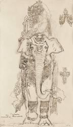 Carton 31. Etude pour la Péri (Gustave Moreau) - Muzeo.com