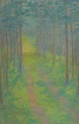 Chemin dans une forêt (François Garas) - Muzeo.com