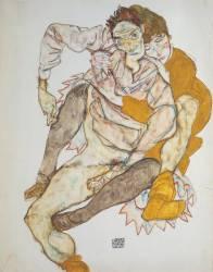 Couple assis (Schiele Egon) - Muzeo.com