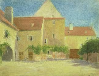 Cour d'une forge (Schiele Egon) - Muzeo.com