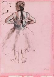 Danseuse, vue de dos, les mains sur les hanches (Edgar Degas) - Muzeo.com