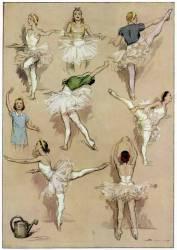 Danseuses de ballet s'exerçant à l'Académie Française de Musique et de Danse (Anonyme) - Muzeo.com