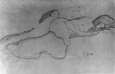 Deux femmes endormies (Klimt Gustav) - Muzeo.com