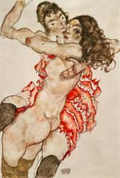 Deux femmes enlacées (Schiele Egon) - Muzeo.com