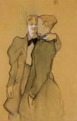 Deux femmes valsant (Henri de Toulouse-Lautrec) - Muzeo.com