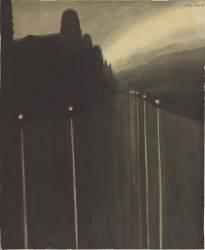 Digue la nuit. Reflets de lumière (Léon Spilliaert) - Muzeo.com