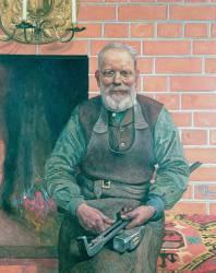 Erik Erikson, le forgeron (Carl Larsson) - Muzeo.com