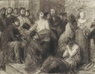 Etude pour l'hommage à Delacroix (Henri Fantin-Latour) - Muzeo.com
