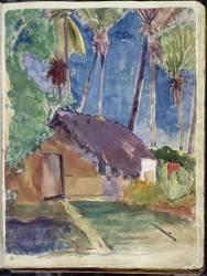 Fare sous les cocotiers (Paul Gauguin) - Muzeo.com