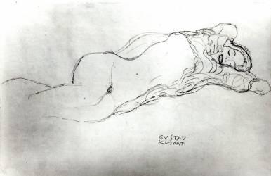 Femme allongée (Klimt Gustav) - Muzeo.com