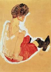 Femme assise (Schiele Egon) - Muzeo.com