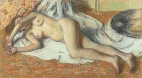Femme nue couchée (Edgar Degas) - Muzeo.com