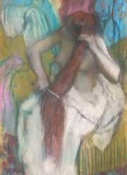 Femme se peignant ou La chevelure (Degas Edgar) - Muzeo.com