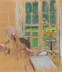 Fenêtre aux bouquets jaunis (Edouard Vuillard ) - Muzeo.com