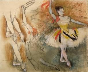 Feuille d'étude : Danseuse au tambourin ou Danseuse espagnole (Degas Edgar) - Muzeo.com