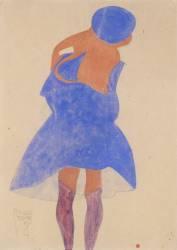 Fille de dos, debout (Schiele Egon) - Muzeo.com