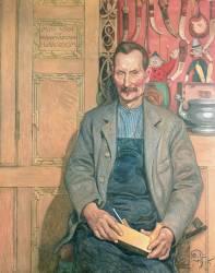 Hans Arnbom, le charpentier (Carl Larsson) - Muzeo.com