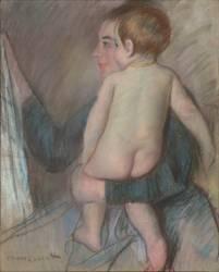 Jeune femme portant un enfant nu ou A la fenêtre (Cassatt Mary) - Muzeo.com