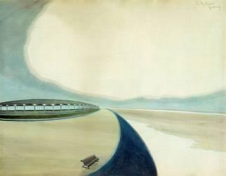 La digue (Léon Spilliaert) - Muzeo.com