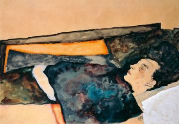 La mère de l'artiste endormie (Schiele Egon) - Muzeo.com