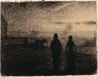 Le Labourage (Georges Seurat) - Muzeo.com