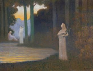 Le lyrisme dans la forêt (Alphonse Osbert) - Muzeo.com