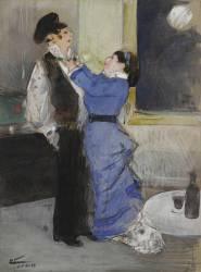 Le noeud de cravate (Forain Jean-Louis) - Muzeo.com