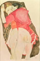 Les amantes (Schiele Egon) - Muzeo.com
