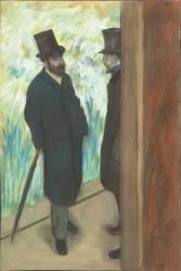Ludovic Halévy et Albert Boulanger-Cavé dans les coulisses de l'Opéra (Edgar Degas) - Muzeo.com