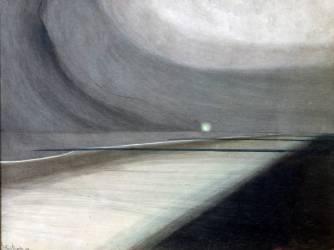 Plage au Clair de Lune, Marine avec Lumiere (Léon Spilliaert) - Muzeo.com