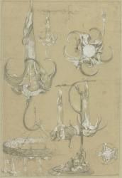 Planche pour les documents décoratifs lampes-fleurs, et suspension (Mucha Alfons) - Muzeo.com