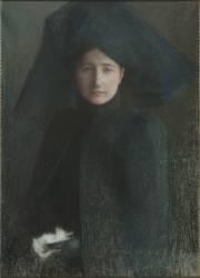 Portrait de jeune femme en deuil (Dagnan-Bouveret Pascal) - Muzeo.com
