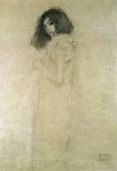Portrait d'une jeune femme (Klimt Gustav) - Muzeo.com
