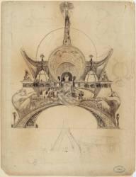 Projet pour le Pavillon de l'Homme de l'Exposition Universelle de 1900 (Alfons Mucha) - Muzeo.com