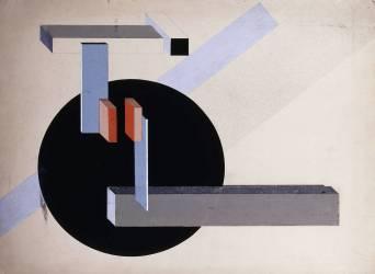 Proun n°89 (Kilmansvaria) (Eliezer Lissitzky) - Muzeo.com