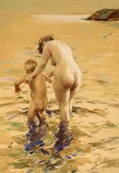 Sa première trempette (Anders Leonard Zorn) - Muzeo.com