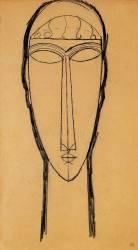 Tête (Modigliani Amedeo) - Muzeo.com