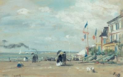 Vue de Trouville (Boudin Louis-Eugène) - Muzeo.com