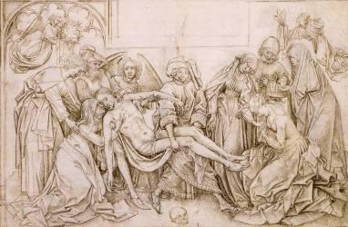 Le Christ porté au tombeau (Rogier van der Weyden) - Muzeo.com